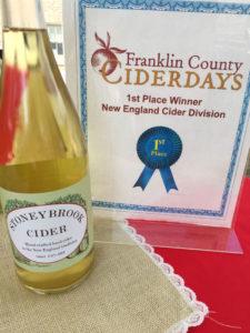 Award-winning Stoneybrook Cider.